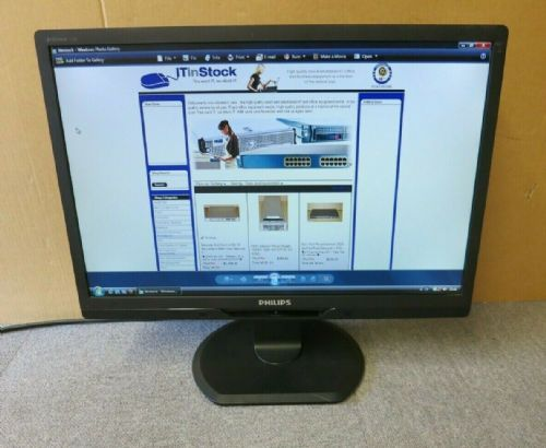 "Phillips Brilliance 225B 225B2CB/00 22"" LCD TFF LED Widescreen Monitor VGA DVI"